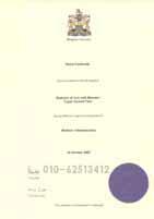 英国龙8娱乐最新网址学位证书